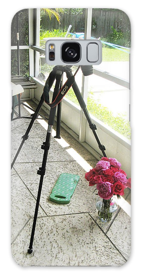 Roses Galaxy S8 Case featuring the photograph Tripod And Roses On Floor by Rich Franco