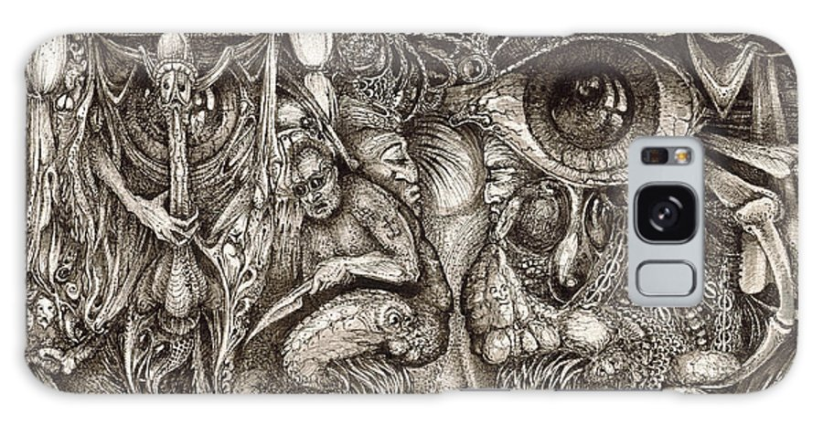 Surreal Galaxy Case featuring the drawing Tripping Through Bogomils Mind by Otto Rapp