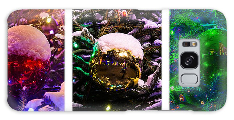 Background Galaxy S8 Case featuring the photograph Triptych - Christmas Decoration - Featured 3 by Alexander Senin