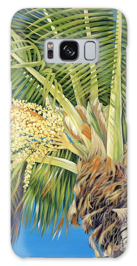 Palm Tree Galaxy S8 Case featuring the painting Tropical Bloom by Danielle Perry