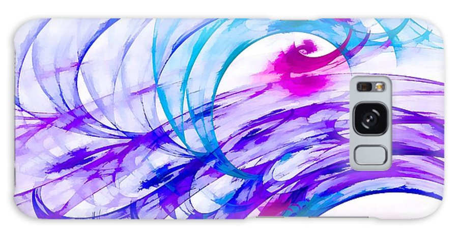 Purple Galaxy S8 Case featuring the digital art Tropical Breeze by Peggy Hughes