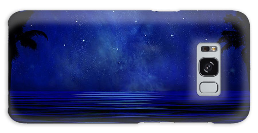 Tropical Dreams Galaxy Case featuring the painting Tropical Dreams Wall Mural by Frank Wilson