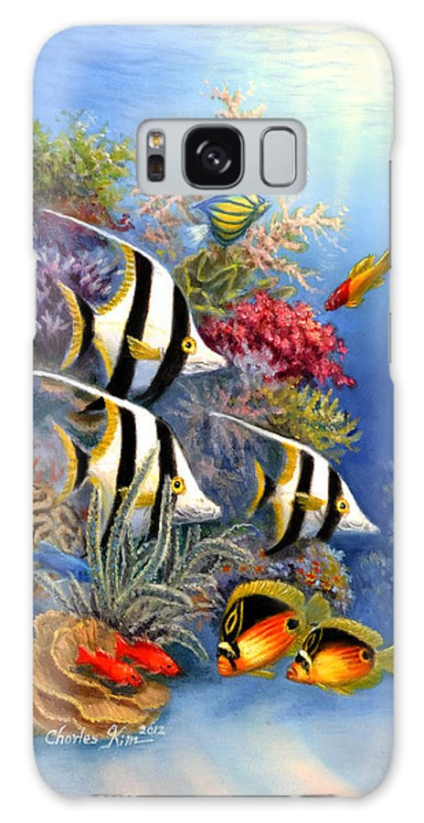 Tropical Fish Galaxy S8 Case featuring the painting Tropical Fish A by Charles Kim