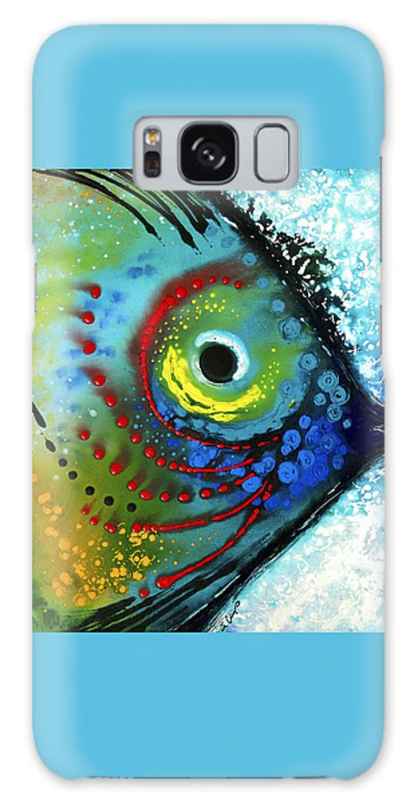 Sharon Cummings Galaxy Case featuring the painting Tropical Fish - Art By Sharon Cummings by Sharon Cummings