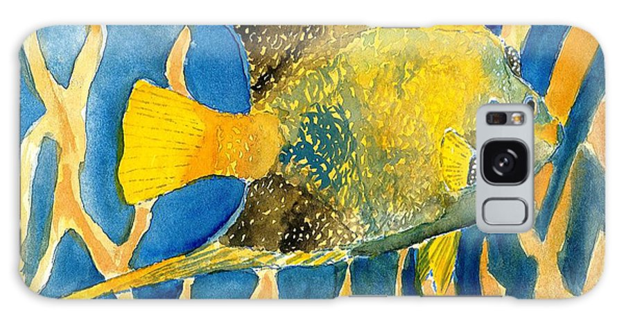 Tropical Galaxy Case featuring the painting Tropical Fish Art Print by Derek Mccrea