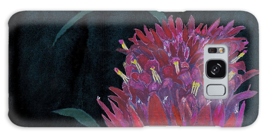 C Sitton Painting Paintings Galaxy S8 Case featuring the mixed media Tropical Flower by C Sitton