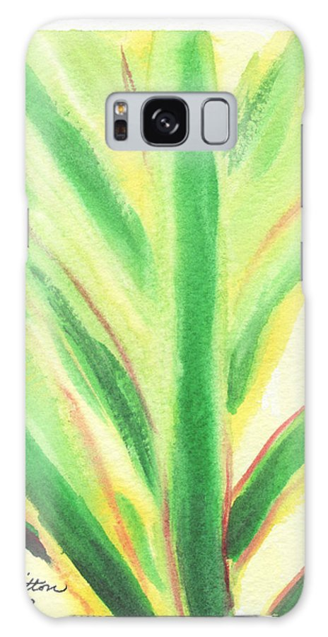 C Sitton Painting Paintings Galaxy S8 Case featuring the painting Tropical Leaf by C Sitton
