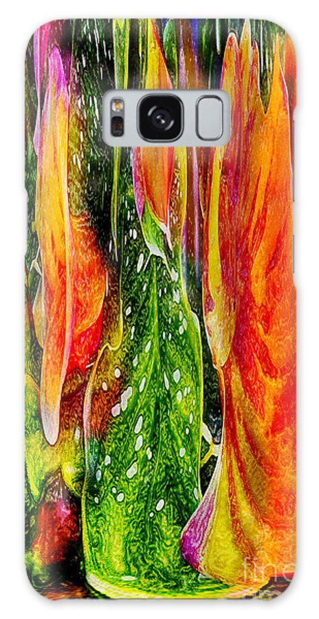 Roses Galaxy S8 Case featuring the digital art Tropical Meltdown by Jeff McJunkin