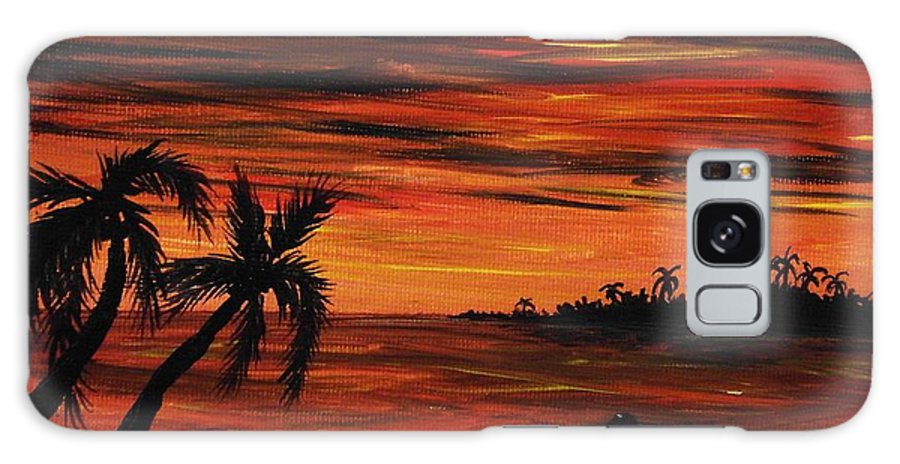Malakhova Galaxy S8 Case featuring the painting Tropical Night by Anastasiya Malakhova