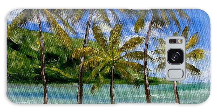 Summer Galaxy S8 Case featuring the painting Tropical Paradize by Inna Montano