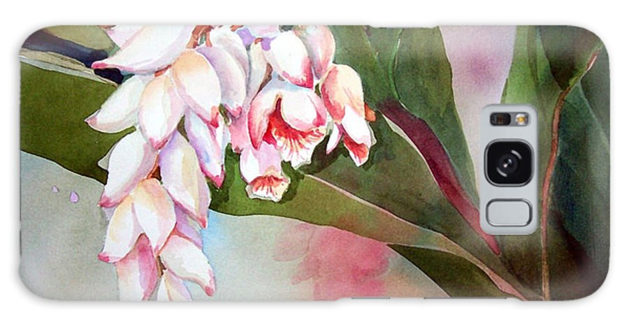 Flower Galaxy S8 Case featuring the painting Tropical Splendor by Sue Kemp