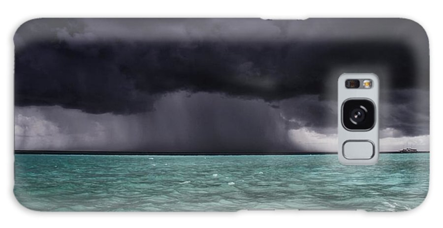 Aqua Galaxy S8 Case featuring the photograph Tropical Storm Approaches Boat by Jon Ingall
