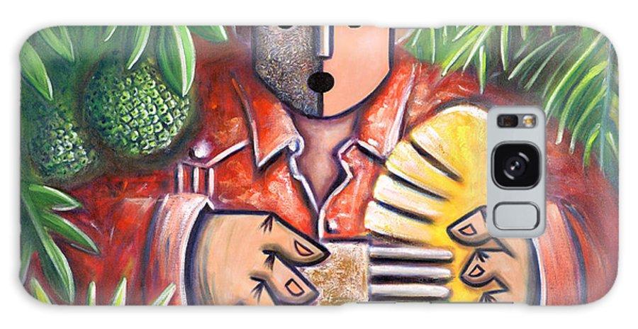 Puerto Rico Galaxy Case featuring the painting Trovador de la pana by Oscar Ortiz