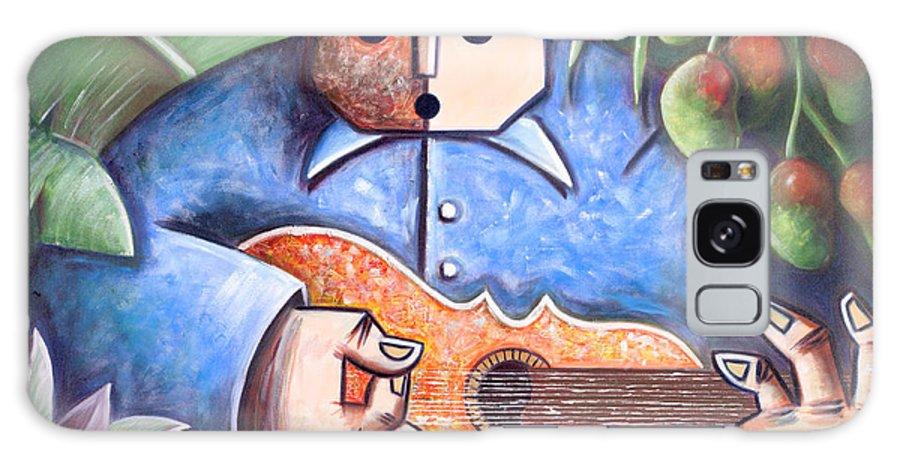 Puerto Rico Galaxy Case featuring the painting Trovador de mango bajito by Oscar Ortiz