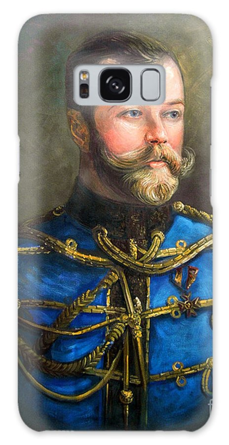 Tsar Nicholas Ii Of Russia Galaxy S8 Case featuring the painting Tsar Nicholas II Of Russia by George Alexander