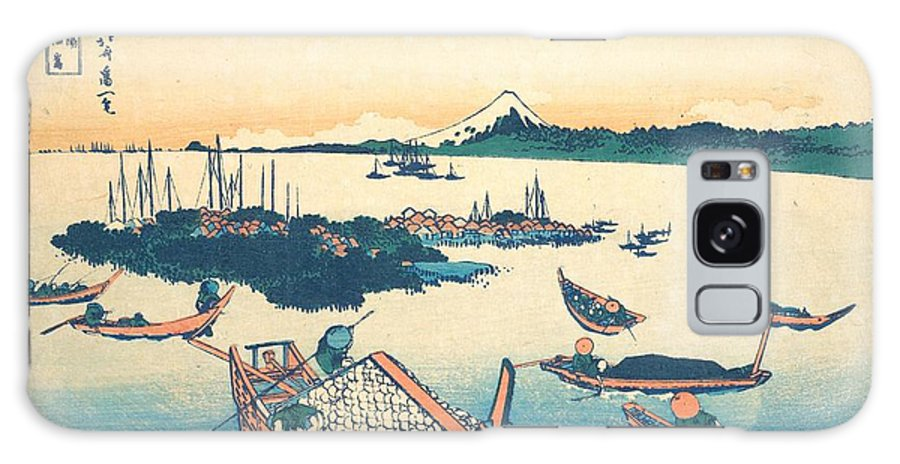 1830-1832 Galaxy Case featuring the painting Tsukudajima In Musashi Province by Katsushika Hokusai