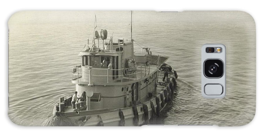 Tug Boat Used To Push Troupe Transport Ship In Puerto Rico Galaxy S8 Case featuring the photograph Tug Boat In Puerto Rico 1956 by Robert Floyd