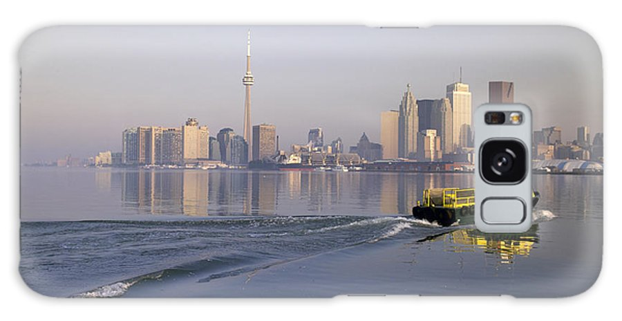 Light Galaxy S8 Case featuring the photograph Tugboat And City Skyline, Toronto by Roderick Chen