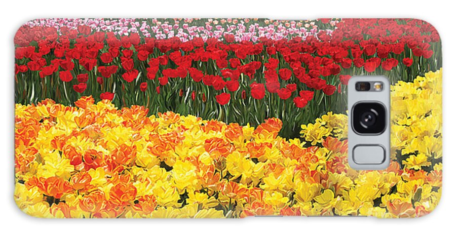Tulip Galaxy S8 Case featuring the digital art Tulip Field by Tim Gilliland