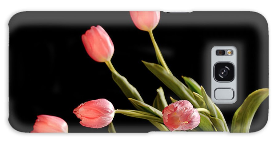 Tulips Photography Galaxy S8 Case featuring the photograph Tulip Happy by La Rae Roberts