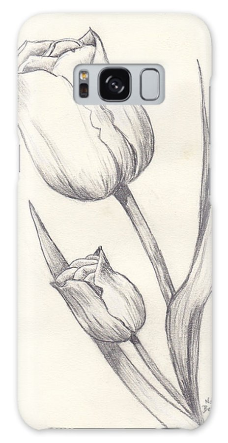 Flowers Galaxy S8 Case featuring the painting Tulips by Nancy Beckerdite