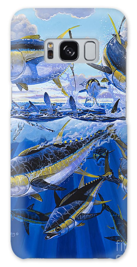 Tuna Galaxy S8 Case featuring the painting Tuna Rampage Off0018 by Carey Chen