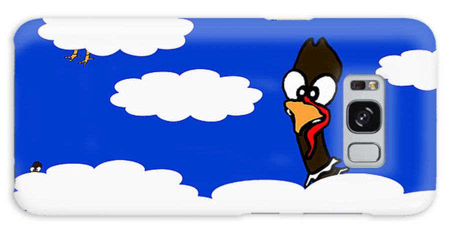 Turkeys Galaxy S8 Case featuring the drawing Turkeys In Flight by Rachel Lowry