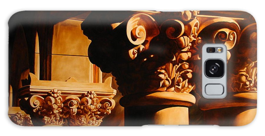 Corinthian Columns Galaxy Case featuring the painting Turn Of The Century by Keith Gantos