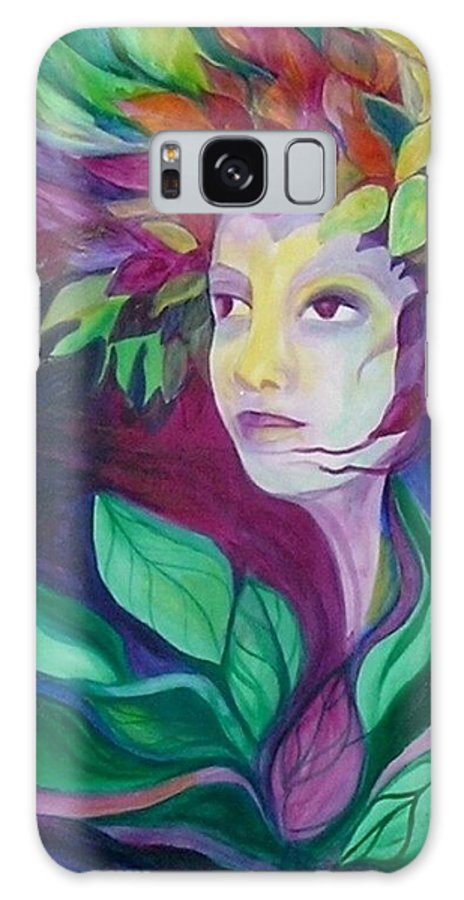 Woman Galaxy Case featuring the painting Eternal Spring by Carolyn LeGrand
