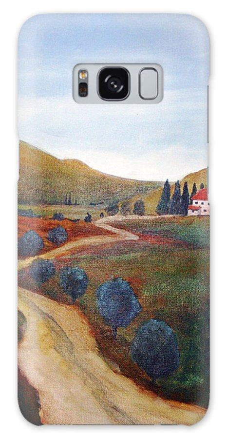 Rick Huotari Galaxy Case featuring the painting Tuscan Farmhouse by Rick Huotari