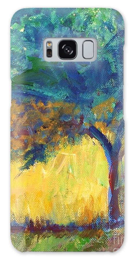 Tuscany Galaxy S8 Case featuring the painting Tuscany Hill Side Shadows by Eric Schiabor