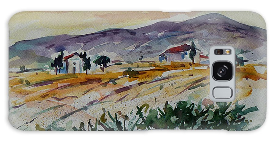 Landscape Galaxy S8 Case featuring the painting Tuscany Landscape 1 by Xueling Zou