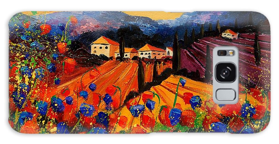 Poppies Galaxy S8 Case featuring the painting Tuscany Poppies by Pol Ledent