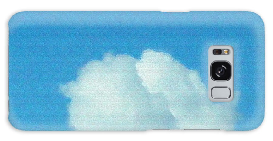Clouds Galaxy S8 Case featuring the painting Twin Cloud Profiles by Pharris Art