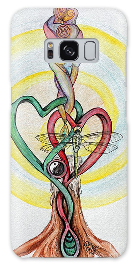 Twin Flame Galaxy S8 Case featuring the painting Twin Flame by Lorah Tout