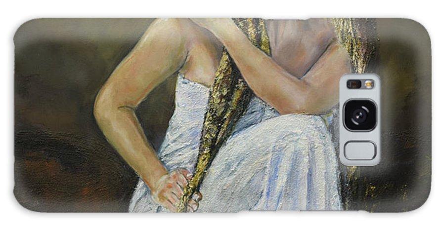 Woman Galaxy S8 Case featuring the painting Twins 2 by Raija Merila