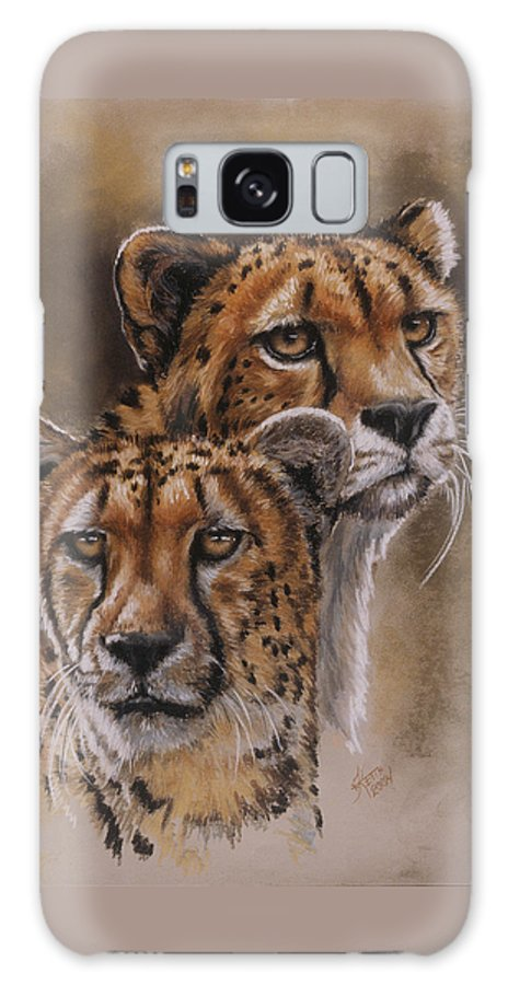Cheetah Galaxy S8 Case featuring the pastel Twins by Barbara Keith