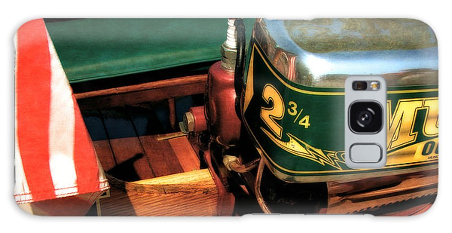Muncie Gear Company Galaxy S8 Case featuring the photograph Two And Three Quarters Hp Muncie Outboard Motor by Michelle Calkins