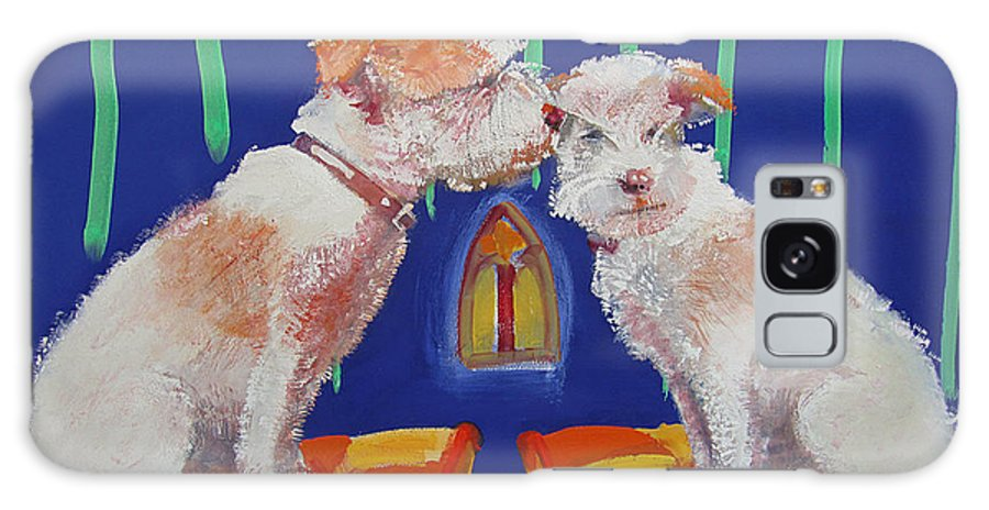 Puppy Galaxy S8 Case featuring the painting Two Border Terriers Together by Charles Stuart