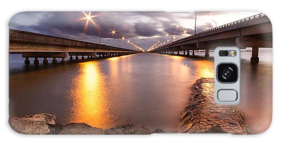 Beach Galaxy S8 Case featuring the photograph Two Bridges #1 by Matt Sheumack