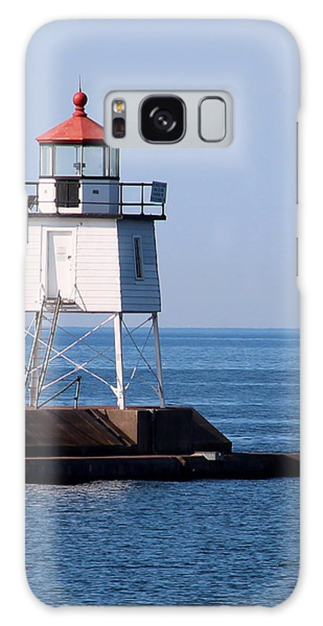 Light Galaxy S8 Case featuring the photograph Two Harbors Breakwater Lighthouse by George Jones