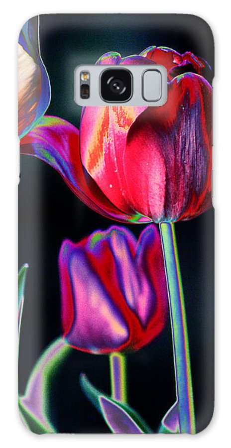 Tulips Galaxy S8 Case featuring the digital art Two Lips 4 You by Joseph Coulombe