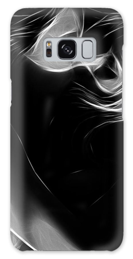 Female Woman Women Lovers Lover Loving Love Kiss Kissing Lesbian Sex Sexual Sensual Black White Minimalism Expressionism Painting Nude Naked Boobs Tits Galaxy S8 Case featuring the painting Two Of Us by Steve K