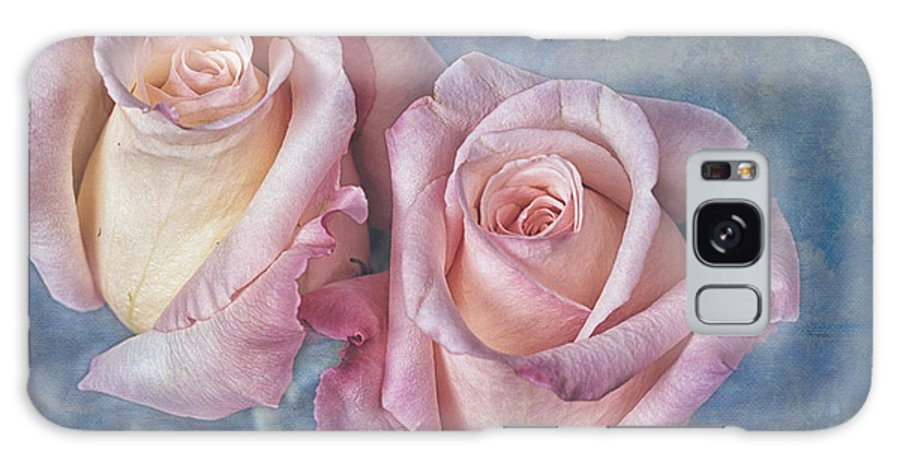 Two Galaxy Case featuring the photograph Two Pink Roses by Keith Gondron