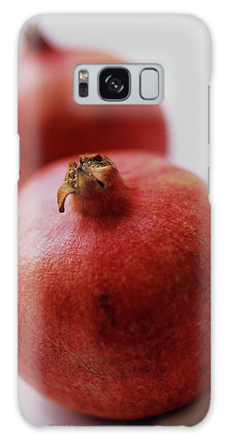 Fruits Galaxy S8 Case featuring the photograph Two Pomegranates by Romulo Yanes