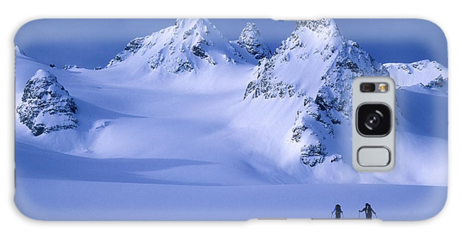 Adventure Galaxy Case featuring the photograph Two Skiers Ski Tour And Explore by Jimmy Chin