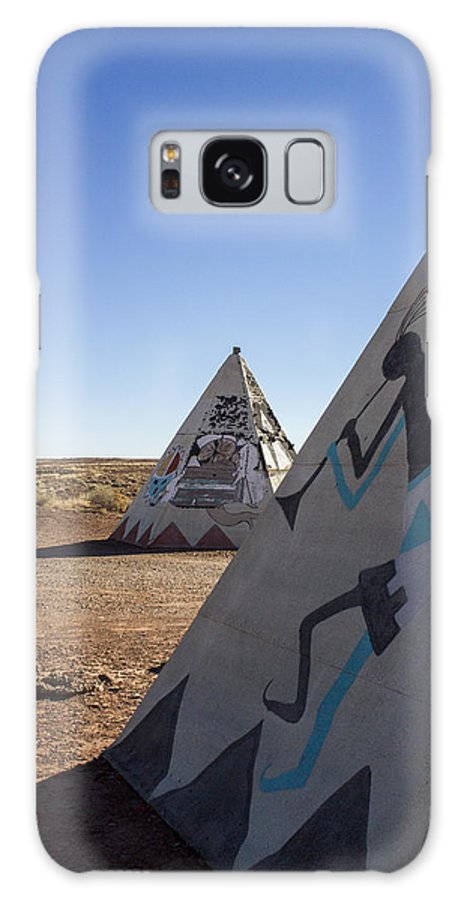 Teepee Galaxy S8 Case featuring the photograph Two Teepees by Jayme Spoolstra
