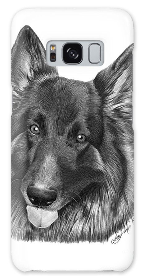 German Shepherd Galaxy S8 Case featuring the drawing Tyson -038 by Abbey Noelle