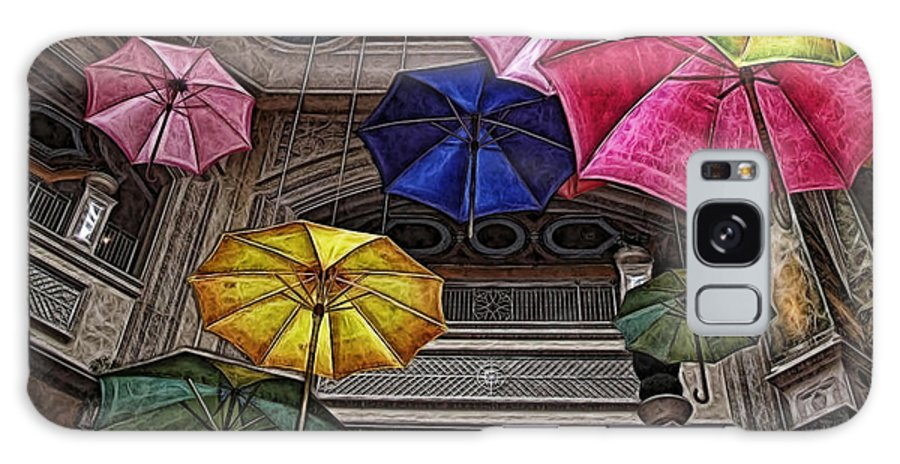 Umbrella Galaxy S8 Case featuring the digital art Umbrella Fun by Joan Minchak