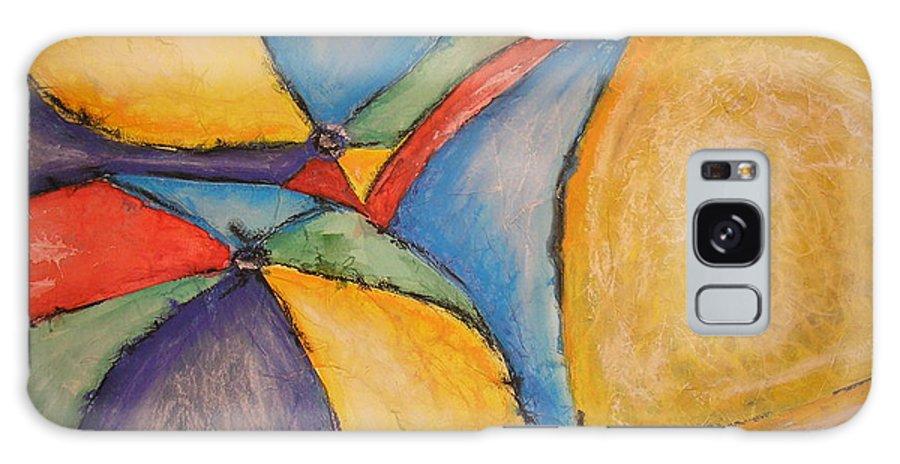 Beach Umbrellas Galaxy S8 Case featuring the mixed media Umbrella I by Patti Gillespie